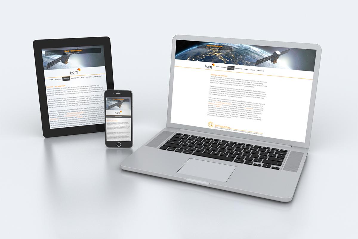 Harp Technologies nettisivut