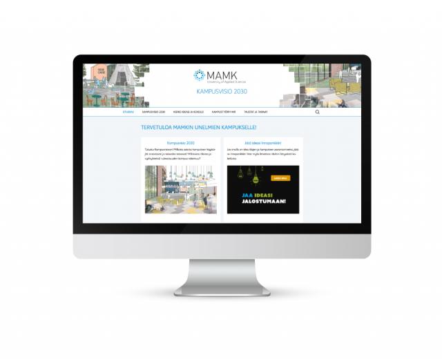 Markkinointimateriaali Kampusvisio 2030 - Nettisivut